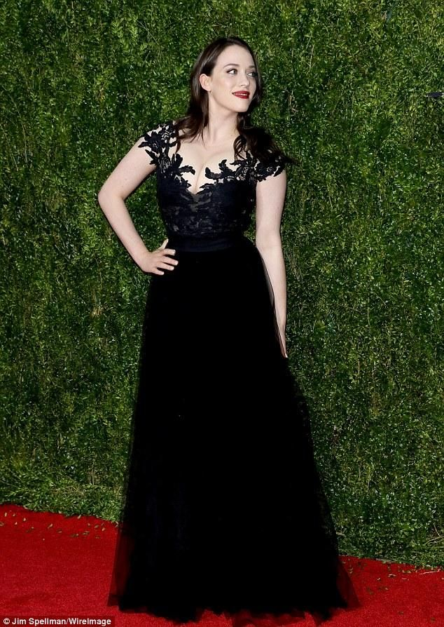 2015 Tony Awards Kat Dennings Lace Backless Celebrity Dresses V Neck A Line Tulle Black Cheap Evening Dresses Sequin Party Dresses Uk Sparkly Party Dress From Weddingmall, $85.87| Dhgate.Com