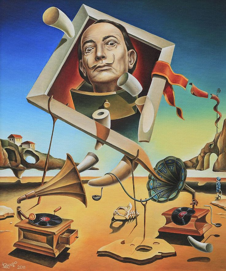 A Surreal Simulacrum Of Salvador Dali Canvas Print / Canvas Art by Dragomir…