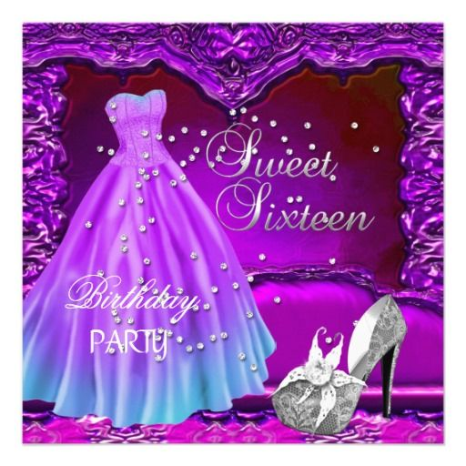 Sweet sixteen sweet 16 decorations and purple dress on pinterest