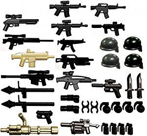 """Amazon.com: BrickArms 2.5"""" Scale Modern Assault Pack: Toys & Games"""