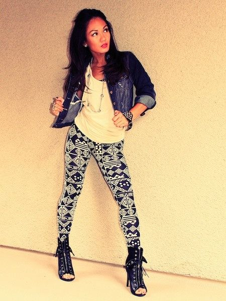 #Outfits  Cute Hipster Outfits : Tribal Leggings