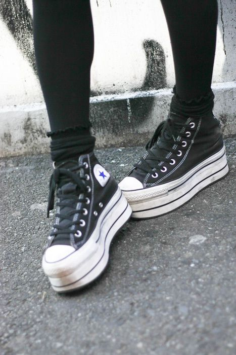 Chuck Taylors creeper shoes.