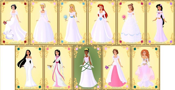 Disney Princess Cinderella Wedding Dress Up Games : Disney princesses wedding dresses by missindianagirl on
