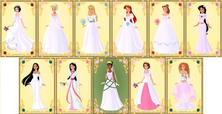 Disney Princess Cinderella Wedding Dress Up Games : Disney princesses wedding dresses by missindianagirl on