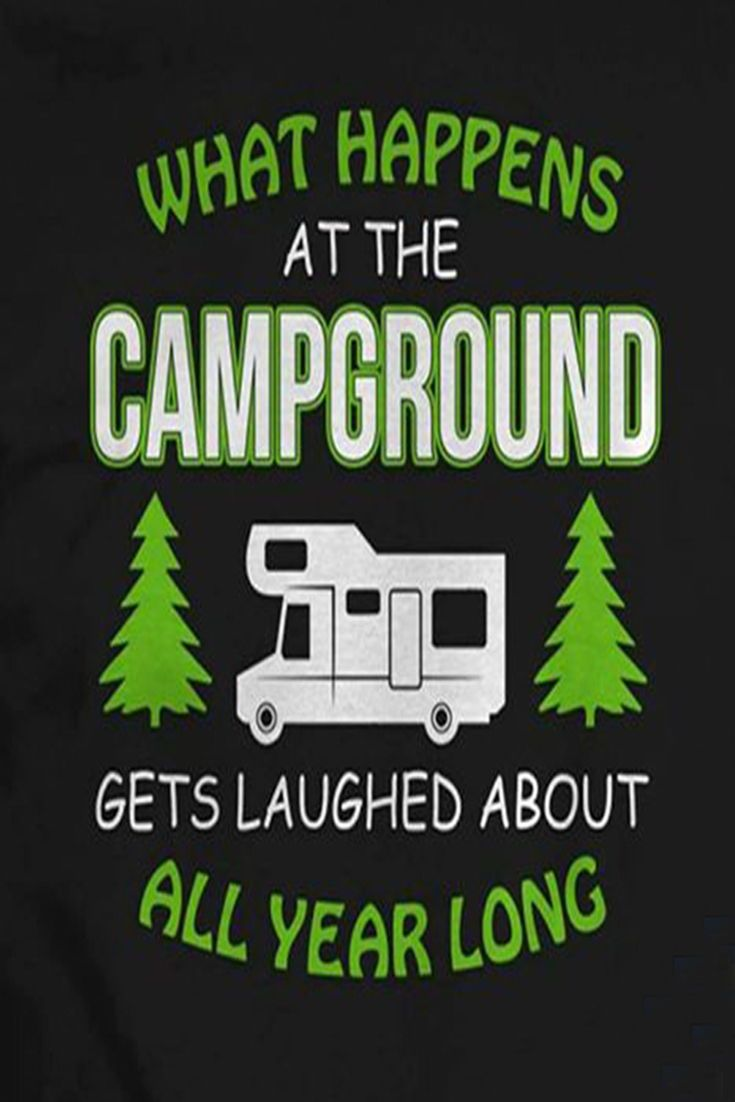 Art- Glamping is My Happy Place T-Shirts Tent with Glamping Quote 3dRose Made in The Highlands