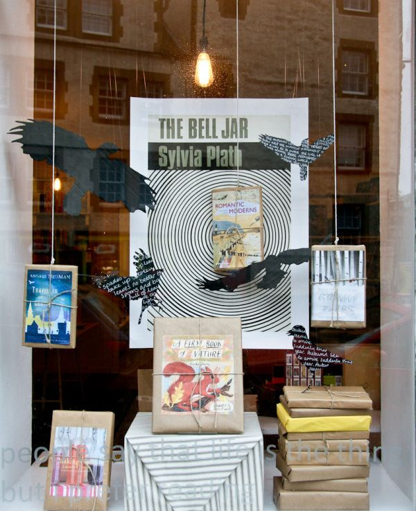 "Golden Hare, Edinburgh, Scotland -- ""Who doesn't love a good Plath-centric display? Plus, presents."""