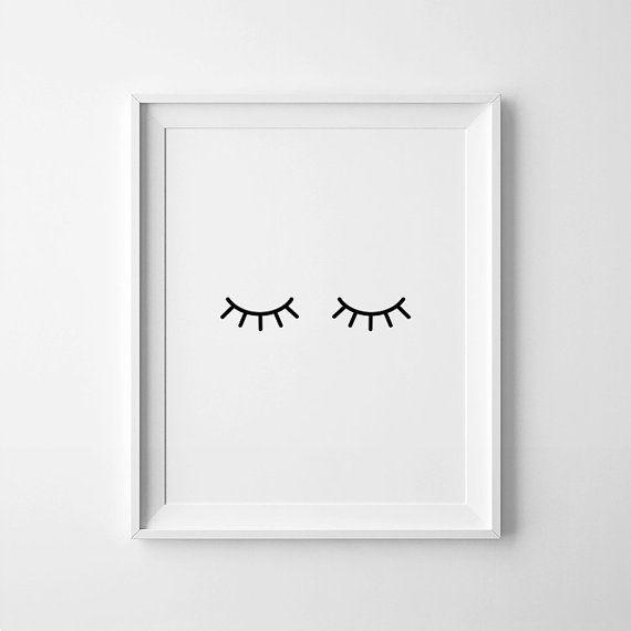 Eyelashes Print, Printable Eyelashes, Lashes Poster, Bedroom Wall Art, Scandinave Wall Art, Affiche