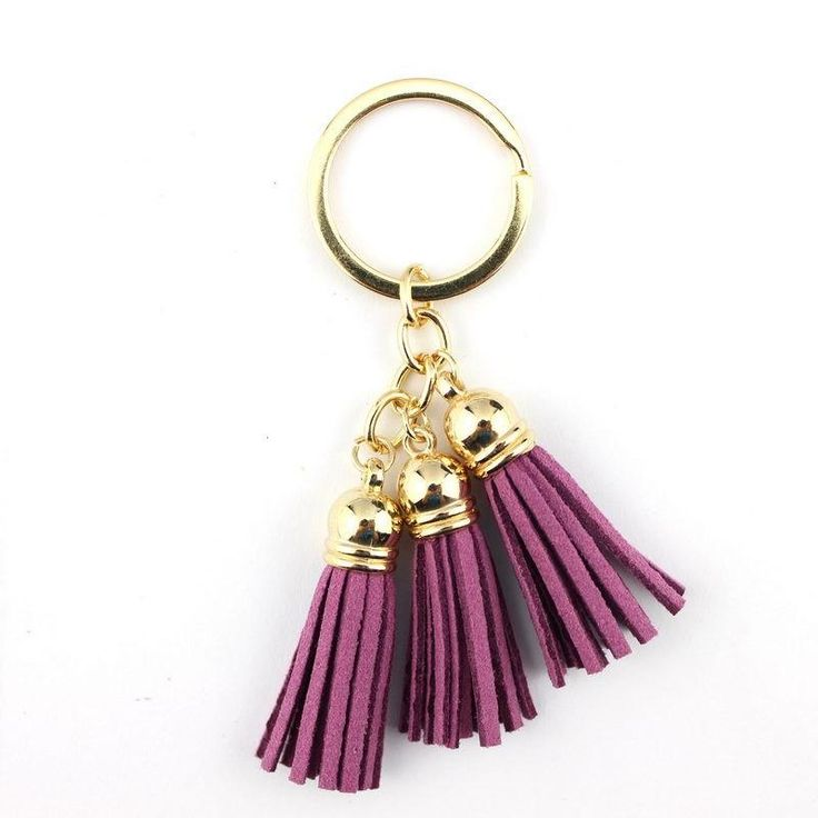 3 Tassel Keychain in Mint or Purple with Gold Keyring – The Bullish Store - #getbullish #tassel #keychain #mint #purple #keys #fringe