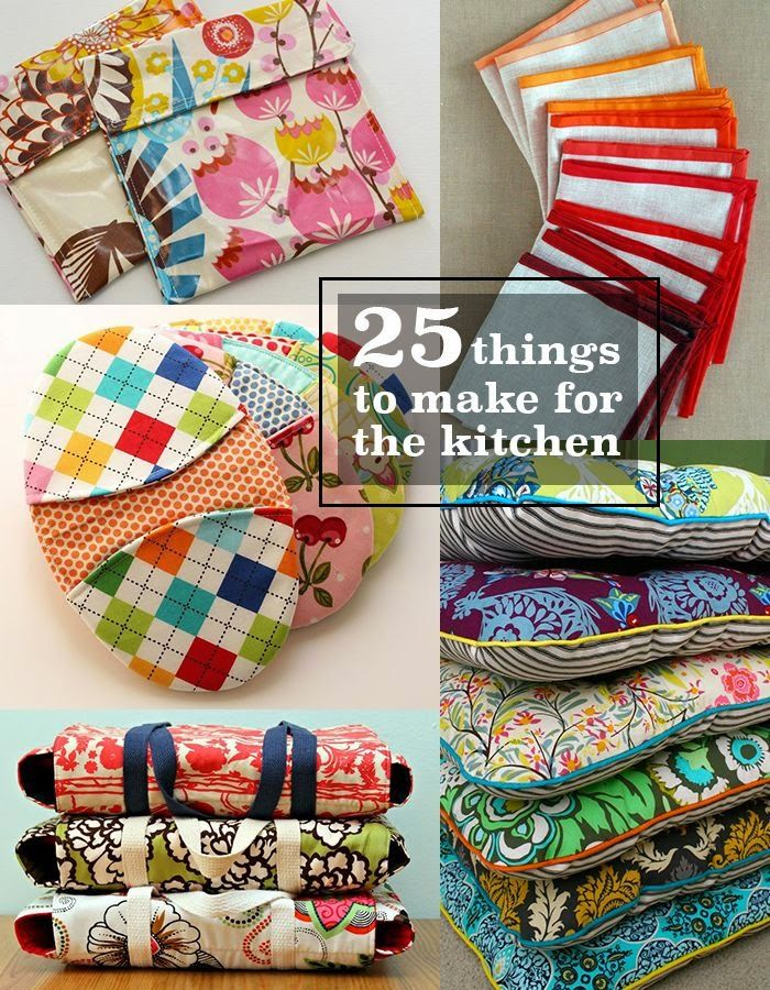 Best DIY Projects: 25 things to make and sew for the kitchen!