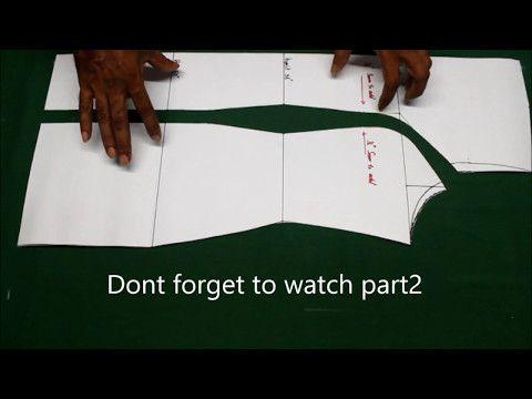 Princess cut kurti pattern making tutorial explained (english),how to cut Princess cut kurti, kameez - YouTube