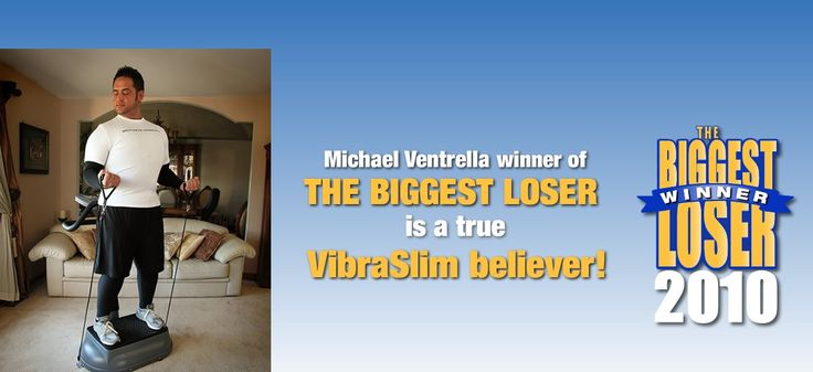 Biggest Loser Winner using Vibration Exercise to stay in shape. VibraSlim is working with some of Hollywood's top actors and trainers. The Vibrating fitness plate is changing everything.