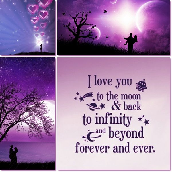 I LOVE YOU....to the moon and back...to INFINITY and BEYOND..FOREVER AND EVER!