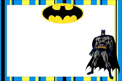 Batman Free Printable Invitations.                                                                                                                                                      Más