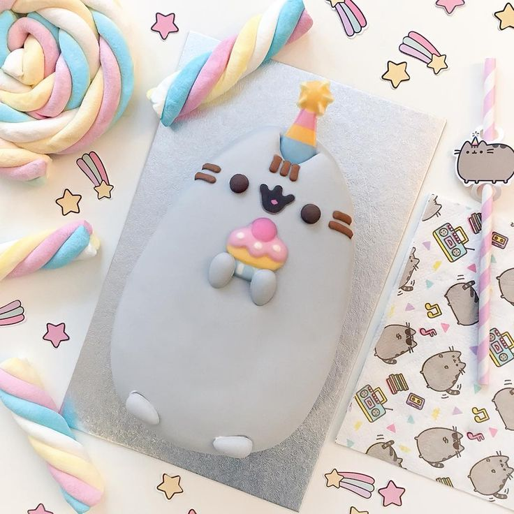 Pusheen Super Fancy Celebration cakes are now available at grocers across the UK! Look for them at your nearest @tescofood, @Sainsburys and @Morrisons! ✨