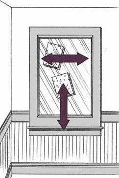 Para encontrar as faixas, lave um lado com movimentos horizontais e o outro com movimentos verticais.