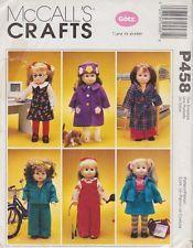 McCalls P458 18 motifs de vêtements de poupée - Gotz Time to Dream - Uncut