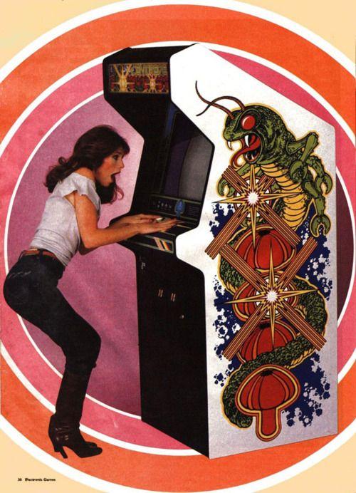 atari arcade game centipede retro vintage computer