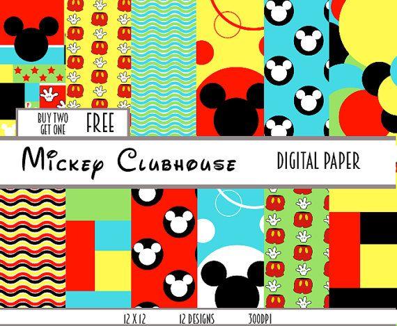 mickey mouse digital scrapbooking digital paper baby