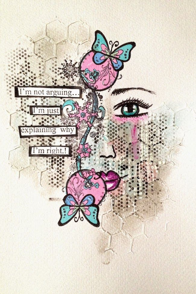 ART JOURNAL PAGE | NOT ARGUING | Nika In Wonderland Art Journaling and Mixed Media Tutorials