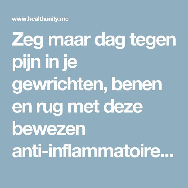 Zeg maar dag tegen pijn in je gewrichten, benen en rug met deze bewezen anti-inflammatoire smoothie | Health Unity