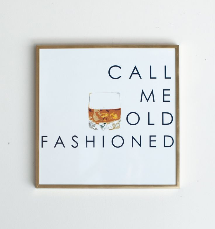 bar print: call me old fashioned.  just ordered for our new D.C. apartment!