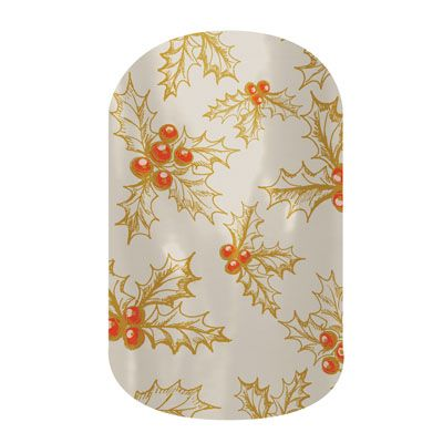 Holly-Day (Matte) nail wraps by Jamberry Nails
