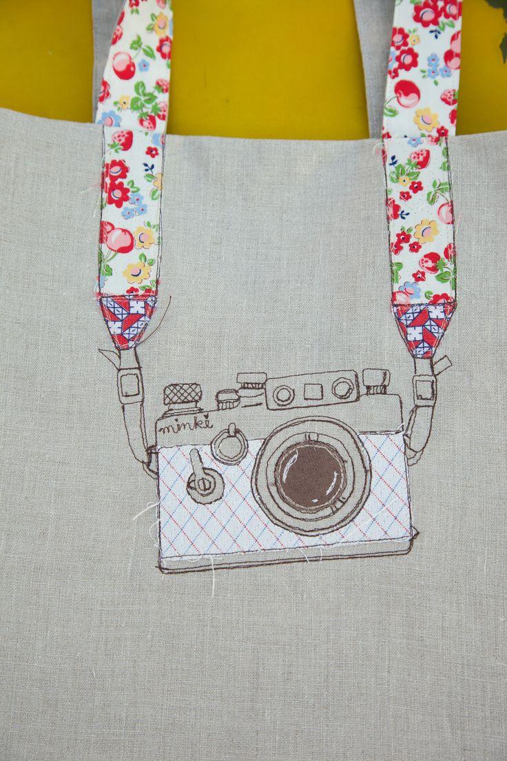 Tote bag template illustrator - Camera On Line Tote Bag