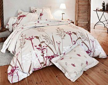 Linge de lit flanelle motif ombelles