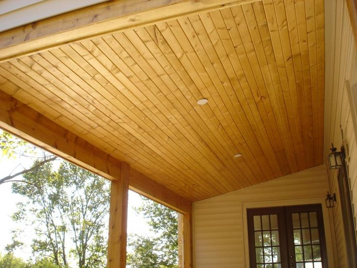 Covered Decks St Louis Tongue And Groove Yellow Pine