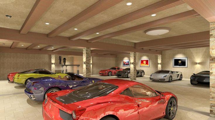 Private Luxury Garage - Rendering by Bradley Adams (co-worker)