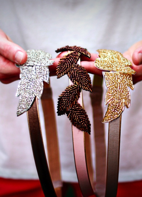 Beaded Leaf Headbands~