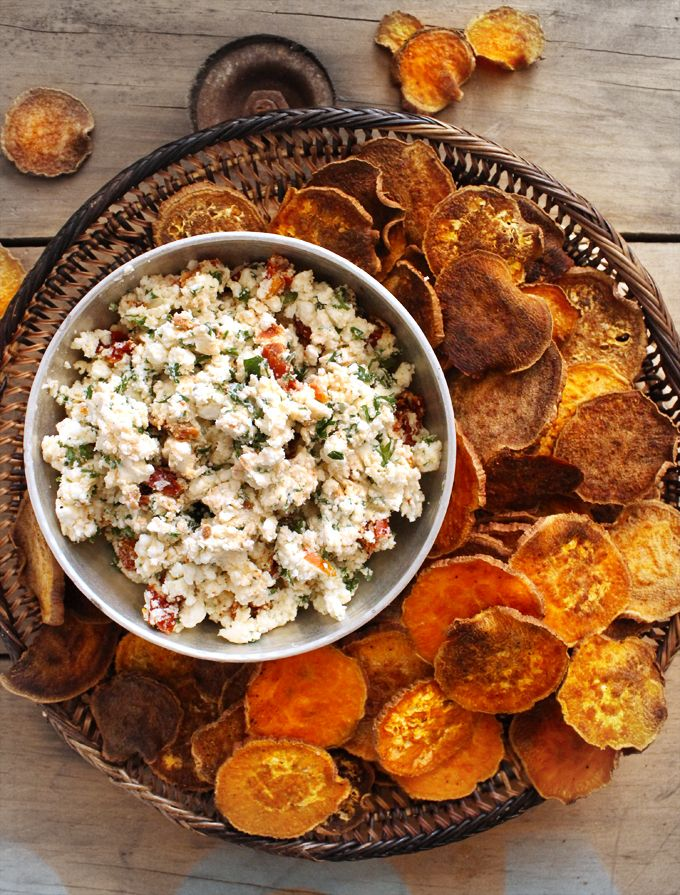 "Check out Baked Sweet Potato ""Crackers"" with Sun-Dried ..."