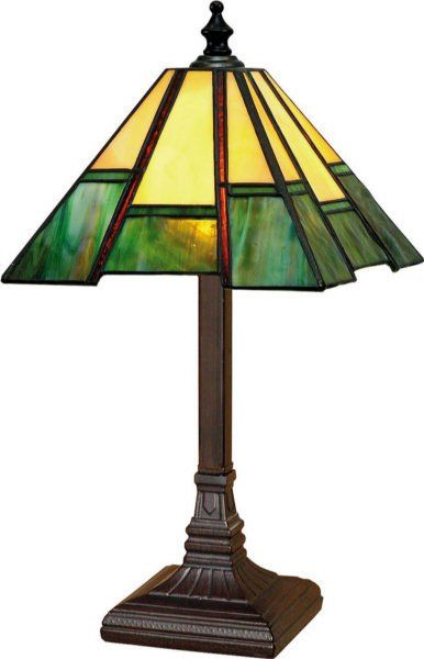 Paul Sahlin Tiffany 1239-2 A-Design Mini Tiffany Table Lamp PST-1239-2