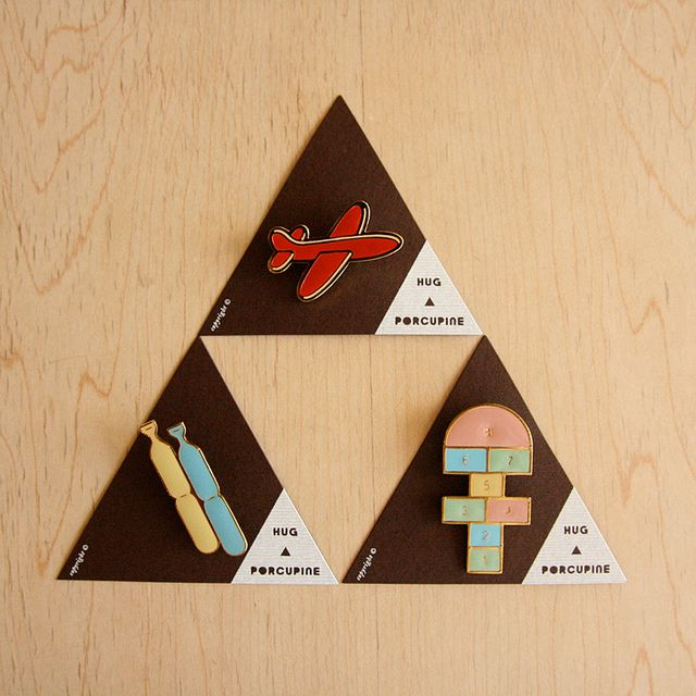 Old School Pins by the little dröm store, via Flickr