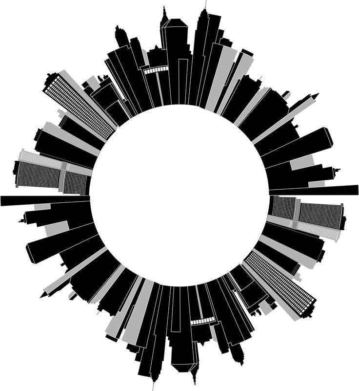 Cityscape Skyline Radial 3 by GDJ