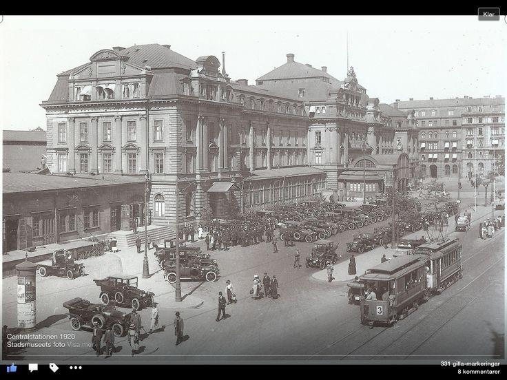Centralstationen början av 1900 talet