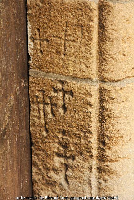 Medieval graffiti (C) Richard Croft :: Geograph Britain and Ireland