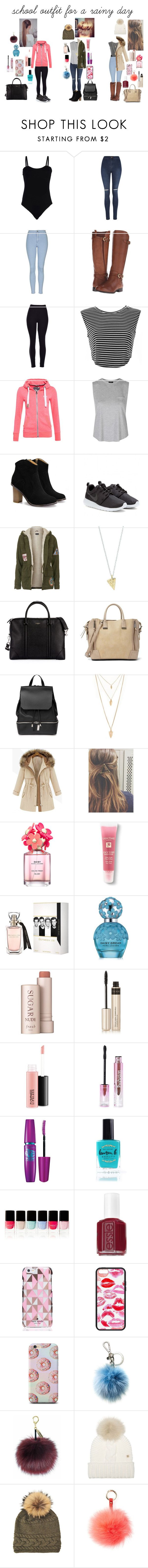 """school outfit for a rainy day"" by anouklagae on Polyvore featuring Baguette....., George, Topshop, Naturalizer, Superdry, NIKE, Givenchy, Steve Madden, COSTUME NATIONAL and Forever 21"