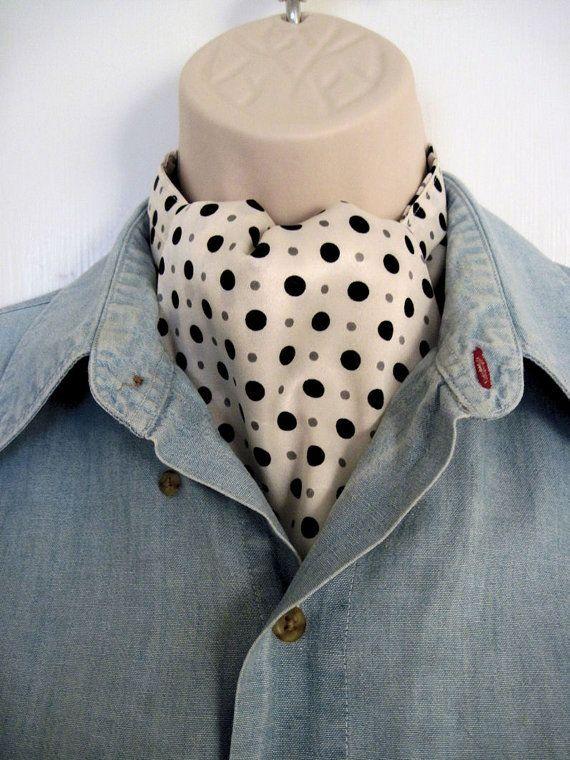 New Ascot Tie Cravat Elegant Formal wear or Classy by abitofglamor, $32.00