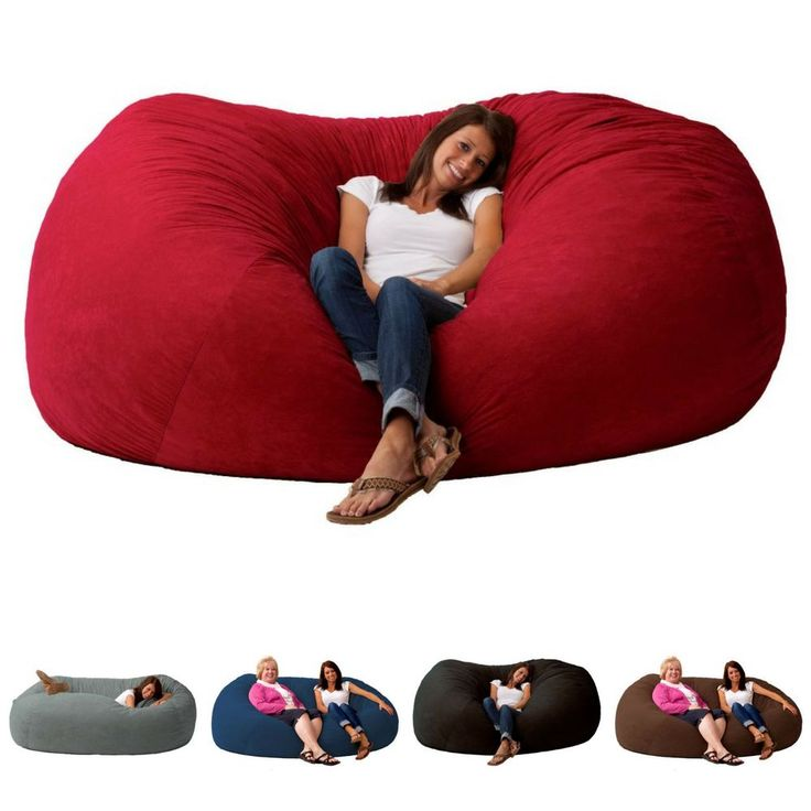 Oversized Bean Bag Chair Sofa Couch Large Comfort Loveseat Lounger Suede  7Ft XXL - Best 25+ Oversized Bean Bags Ideas On Pinterest Oversized Bean