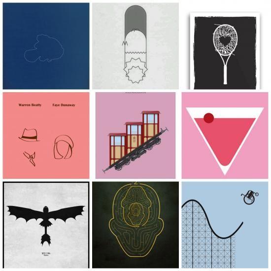 58 minimalista filmplakát  amit egy-egy híres film vagy sorozat inspirált.Amikor a jó filmek mozikba kerülnek  ...