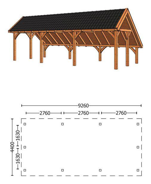 Trendhout | Kapschuur De Hoeve XL 9.26m | Combinatie 1 | NuBuiten