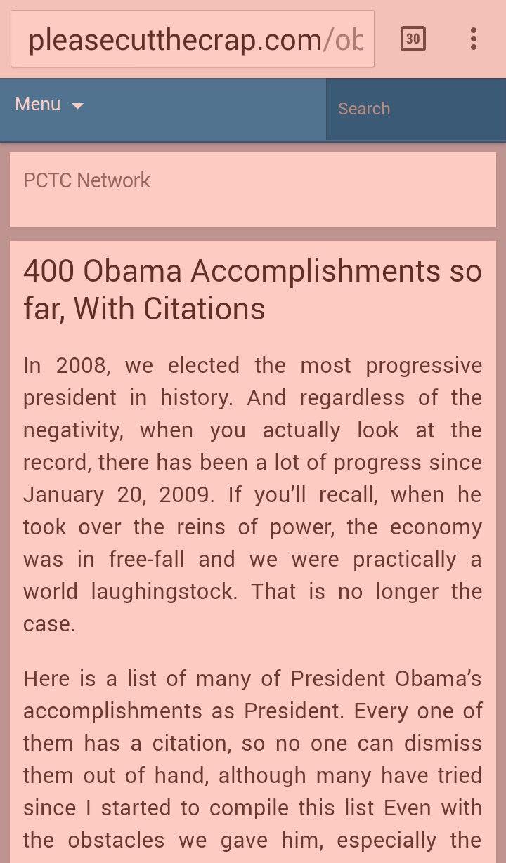 http://pleasecutthecrap.com/obama-accomplishments/
