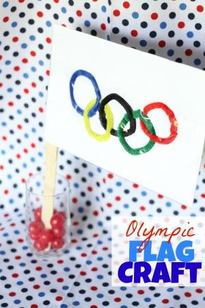 Olympic Flag Craft from I Can Teach My Child