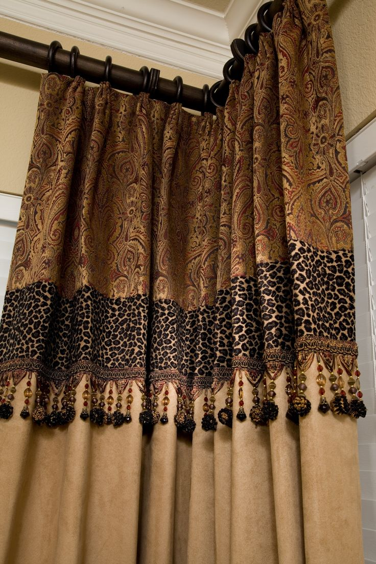 custom drapery just a touch of leopard i love that corner room
