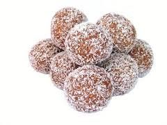 Milo Balls- all that's needed are biscuit cookies, condensed milk, milo and coconut. A no-bake treat I can easily make in Laos!