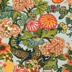 Schumacher CHIANG MAI DRAGON AQUAMARINE Wallpaper