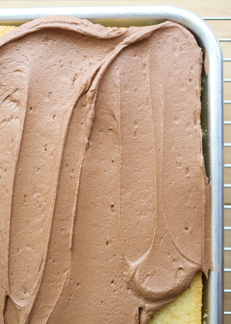 Fluffy, Creamy, Not-Too-Sweet, Absolutely Perfect Chocolate Buttercream Frosting recipe by Barefeet In The Kitchen