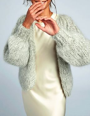 Must Have Maiami Mohair Pleated Cardigan Chunky Knits Knit