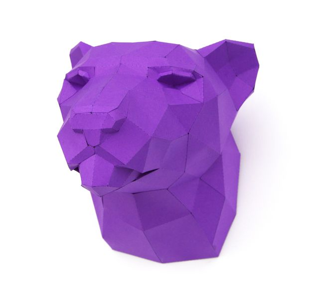 "Trophäe Leopard PRECUT! ""The Big Five"" DIY #3 von Paperwolfs Shop auf DaWanda.com"